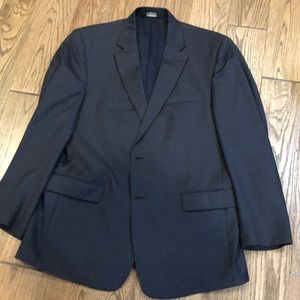 Jos. A. Bank Black Muted Plaid Suit